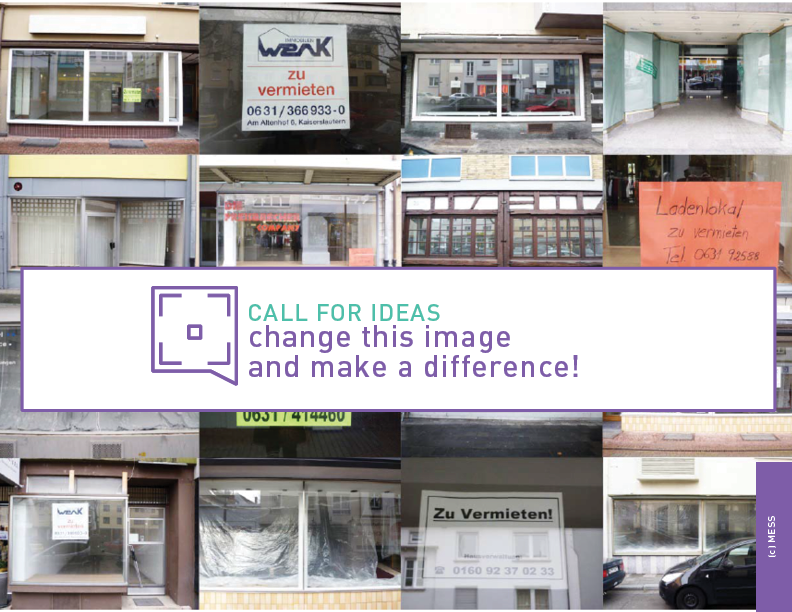 collage of empty shops & call for ideas