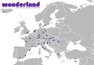 on the europe map the project space cities are marked