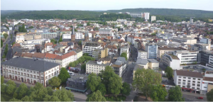 view on town centre Kaiserslautern in Germany