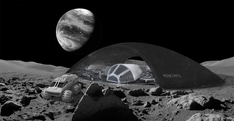 Credit: MoonVillage Design Studio, HB2, TU Vienna, project Moon Campus by Baris Dogan, Julia Oblitcova